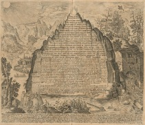 "Engraved image of the ""emerald tablet"" from Amphitheatrvm sapientiae aeternae, solivs verae, 1609, by Heinrich Khunrath (1560-1605). Typ 620.09.482, Houghton Library, Harvard University. Public domain, Wikimedia Commons."